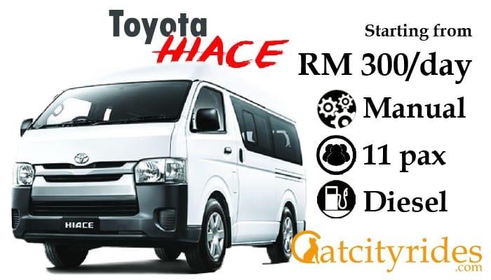 Kuching_car_rental_kereta_sewa_kuching_Catcityrides_Toyota_Hiace